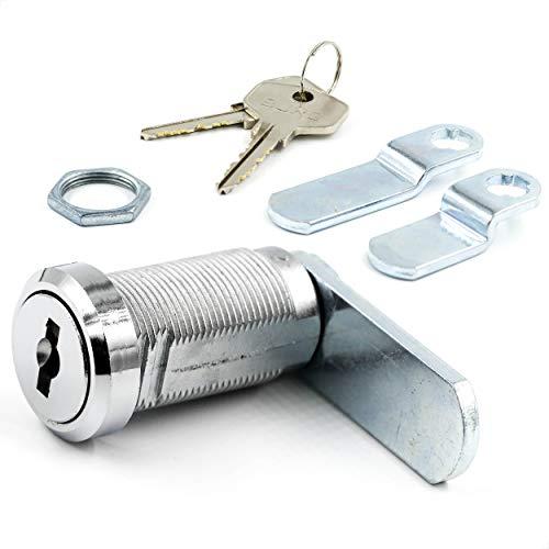 BURG Hebelschloss-Set 30mm verschiedenschließend (Universalzylinder, Briefkastenschloss, Möbelschloss, Schrankschloss)