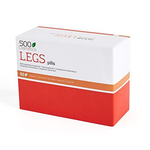 500Cosmetics Legs - Cápsulas Naturales para Prevenir y Eliminar las Varices - Mejora la Circulación Sanguínea y Reduce la Hinchazón - Con Castaño de Indias - Fabricado en la UE (1)