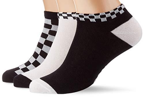 Urban Classics Unisex Sneaker Checks 3-Pack Socken, Black/White, 39-42