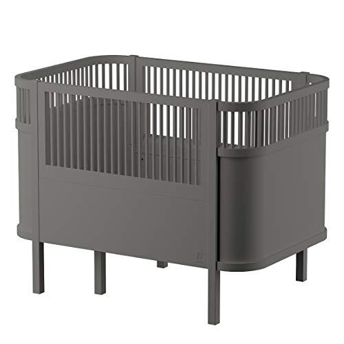 Sebra Ausstellungsstück Bett - Baby & Juniorbett - das Bett, DASS mit dem Kind wächst - grau