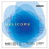 Juego de cuerdas Helicore para contrabajo, serie de orquesta de D'Addario, escala 3/4, tensión media.