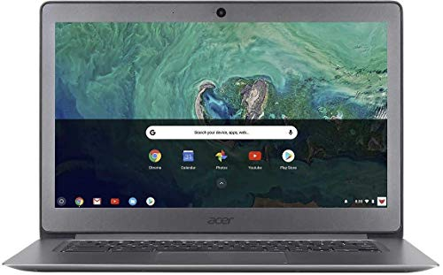 Acer 14' FHD LED Backlight Widescreen Chromebook w/ 128G SD Card | Intel Celeron N3160 Quad-Core | 4GB RAM | HDMI | 32GB eMMC SSD | Mouse and Case | Google Chrome OS | Granite Gray