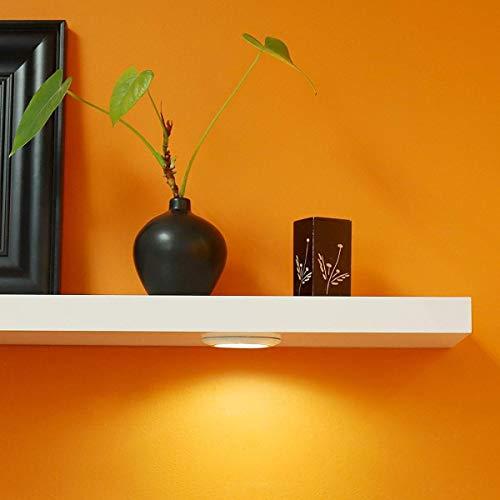 FRANKYSTAR Mensola Design a Muro con LED incorporati - Set mensole Bianche da Parete con meccanismo a Scomparsa (M:90x24x4 CM)
