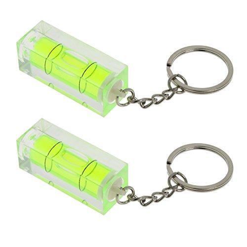 2x Smartfox Acryl Mini Wasserwaage Schlüsselanhänger 15x15 mm, 40 mm Länge