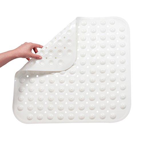 FHzytg Duschmatte Klein 48 x 48 cm, Duschmatte rutschfest Quadratisch Duschmatten Dusche rutschfest, Antirutschmatte Dusche Duschwanneneinlage rutschfest mit Massage Ball Anti Rutsch für Badewanne