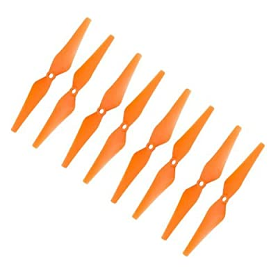 RAYCorp Genuine Gemfan 9443 (9x4.3) Propellers for DJI Phantom 8 Pieces(4CW, 4CCW) Orange - Glass Fiber Nylon 9-inch Props Battery Strap by RAYCorp