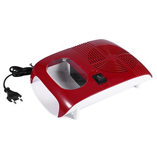 Secador de esmalte de uñas, soplador con ventilador Herramientas de manicura para secar Esmalte de gel de uñas Aire caliente y frío