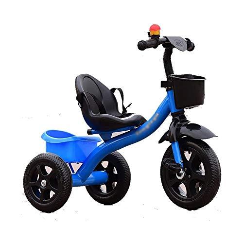 TQJ Poussette de Bébé Confort Poussette de Bébé Enfants Tricycle Pédale Vélo 2-3-5 Year Old Boy and Girl (Color : Blue)