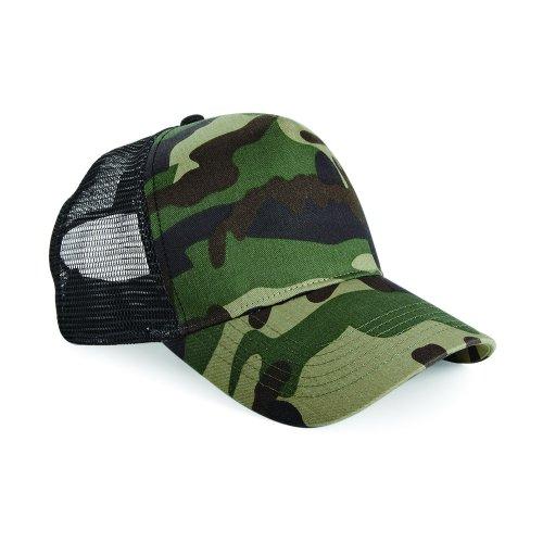 Beechfield Retro Camouflage Trucker-Kappe/Baseball-Kappe mit Tarnmuster (Einheitsgröße) (Grünes Tarnmuster)