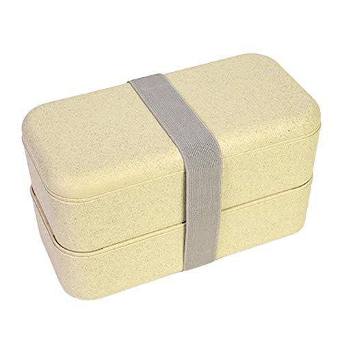 Envisioni Double couche Sac isotherme, style japonais, boîte Bento Box, biodégradable Lunch Box, mini boîtes bento d'isolation Fit