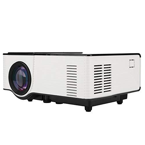Proyector LED HD, Home Theater Home Beamer Cinema Soporte para Proyector de Películas 1080P Pantalla de Sincronización de Teléfono Externo Microproyección Compatible con VGA, HDMI, Tarjeta TF, USB(yo)