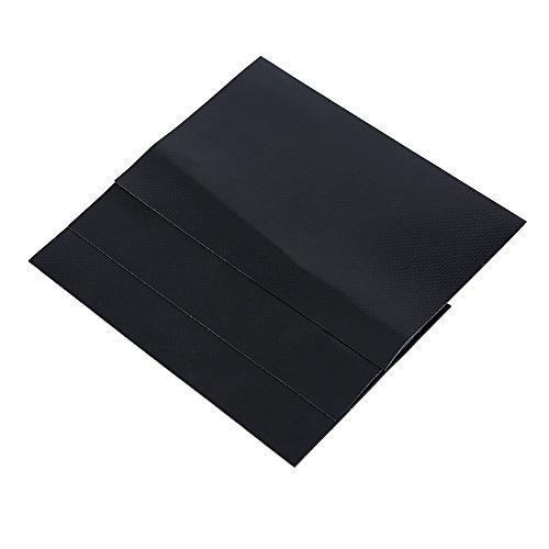 Keenso Parches de Reparación, Kit de Parches Impermeables de Reparación de PVC para Kayak Canoa Inflable Canoa(Negro)