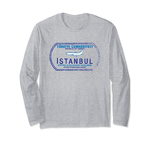 Istanbul Türkei Reisepass Stempel Urlaubsreise Langarmshirt