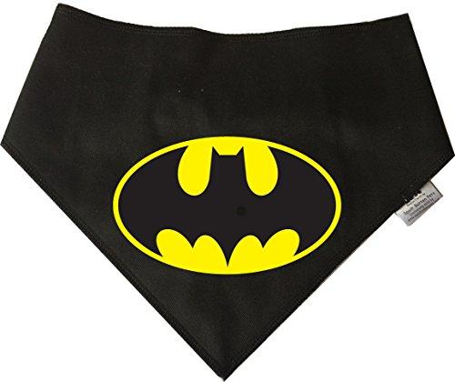 Spoilt Rotten Pets S3 Bandana pour Chien Batman Noir Taille M pour Les Chiens de Super-héros. Convient aux Golden Retrievers, dalmatiens, Labradors et Chiens de Taille Staffie.