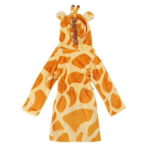 Briskorry Kinder Bademantel,Sleepwear Winter Robe Soft Hooded Robe Flabe Sleeprobe Casual Warm Bademantel Dick Warme Nachthemd Homewear