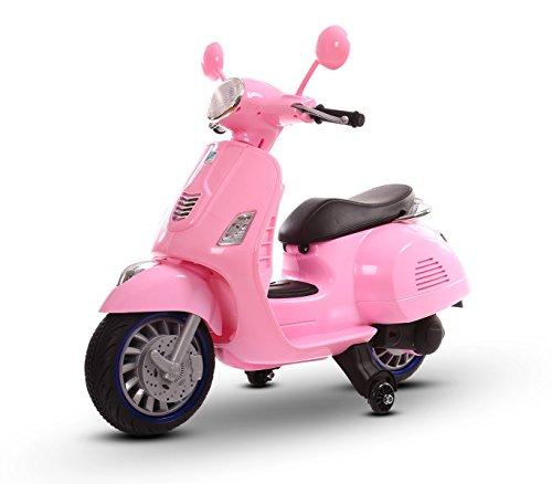 Scooter Elettrico Rosa LT858 per Bambini Happy Doppia velocità monoposto 6/12V. Media Wave Store