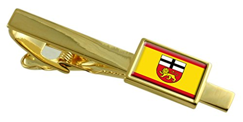 Select Gifts Bonn City Deutschland Fahne Gold Krawattenclip