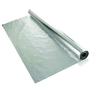 L/ámina de aislamiento met/álico Solar Bay 2 en 1 grosor de 1,2 x 25 m color plateado de pol/ímero con una sola burbuja de 4 mm 30 m2 doble l/ámina