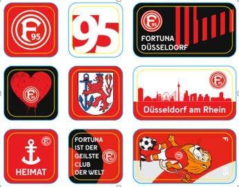 Fortuna Düsseldorf Magnet 9-er Set