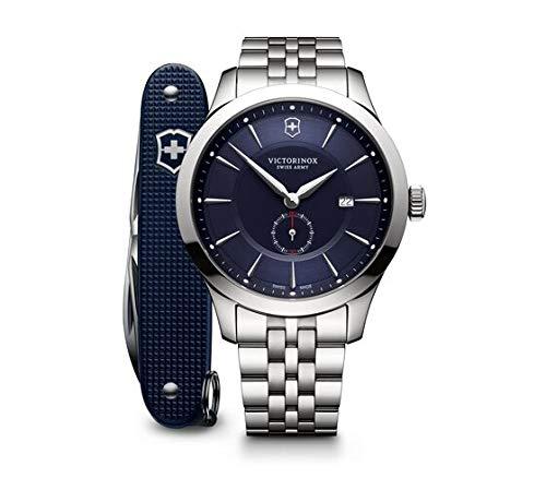 Victorinox Hombre Alliance - Reloj de Acero Inoxidable de Cuarzo analógico de fabricación Suiza con Herramienta pionera del ejército Suizo 241763.1