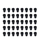 40 Pieces (Same Size) Very Small Solid Rubber Stoppers - Size #000-13mm (0.51in) x 8mm (0....