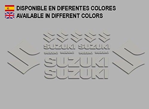 Ecoshirt 1H-Z5Y5-OV19 Pegatinas Suzuki F191 Stickers Aufkleber Decals Adesivi Moto Bike, Plata