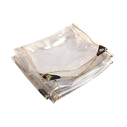 DLMSDG Lona Impermeable Transparente, PVC Ripstop Resistente Grueso con Tela Impermeable Perforada para Soportar Tormentas, Nieve, Sol Y Todo Tipo De Elementos.(3x5m(9.8x16.4ft))