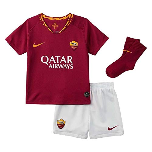 Nike Roma I Nk Brt Kit Hm Completo Calcio, Unisex bimbi, team crimson/university gold, 18-24