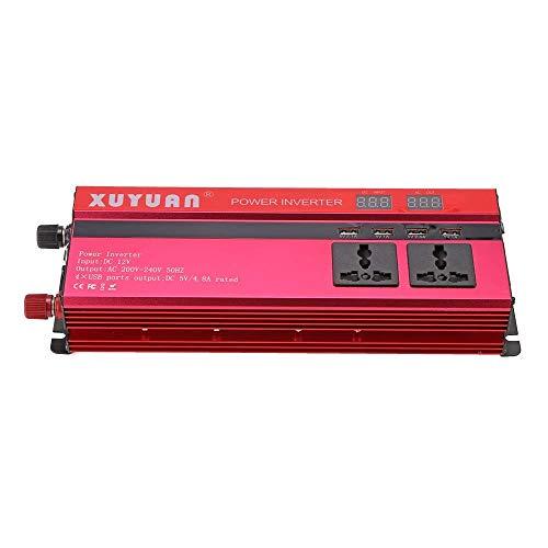 KPL puissance onduleur onde pure sinusoïdale Onduleur 5000W DC 12V à 220V AC Convertisseur avec allume-cigare voiture, 3 Universal Plug, DC 5V / 4.8A 4 ports USB Puissance onduleur onde sinusoïdale pu