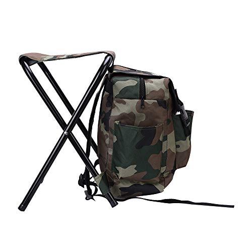 Kimmyer Paquete de 2 sillas Plegables Ligeras, Taburete portátil, Equipo de Escalada de Caza de Gran Capacidad, para Senderismo al Aire Libre, Pesca en la Playa, Camping