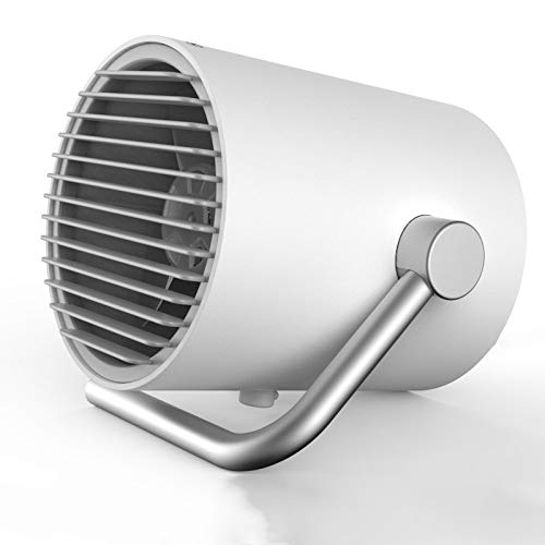 QHGao Kleine persoonlijke USB-bureauventilator, draagbare persoonlijke mini-tafelventilator, twee turbineschepen, whisper mute whislwind Air-technologie, 2 snelheden en uniek