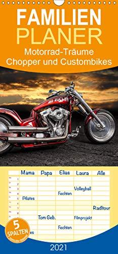 Motorrad-Träume – Chopper und Custombikes - Familienplaner hoch (Wandkalender 2021, 21 cm x 45 cm, hoch)
