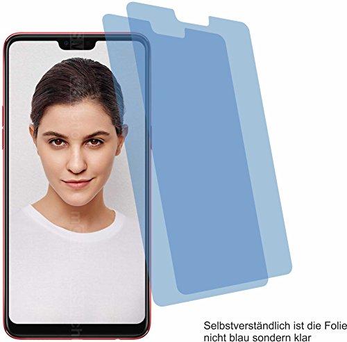 4ProTec I 2X Crystal Clear klar Schutzfolie für Oppo F7 Bildschirmschutzfolie Displayschutzfolie Schutzhülle Bildschirmschutz Bildschirmfolie Folie