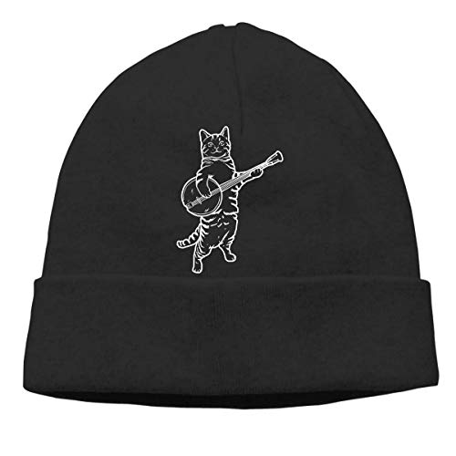 Yuanmeiju Banjo Cat Adult Hip Hop Breakdance Beanies Caps Unisex Soft Cotton Hedging Cap Black
