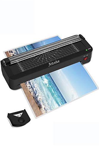 Aitsite A4 Laminator for A4 A5 A7, Photo Laminator, 2 Rolls with 16 Laminating Pockets for Office, Home, School etc