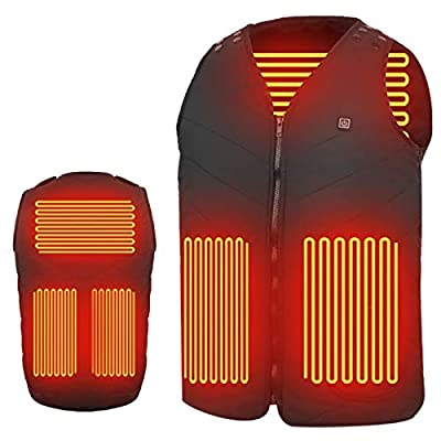 Amazon - Save 80%: Electric Heated Vest Outdoor Warm Clothing Heated For Riding Skiing…