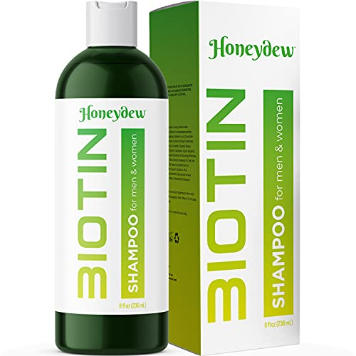 Hair Loss Shampoo for Men and Women - DHT Blocker - Biotin for Hair Growth and Regrowth Treatment - Thicker Fuller Hair Revitalizing Shampoo - Improve Circulation Scalp - Dandruff Shampoo Sulfate Free by Honeydew Products