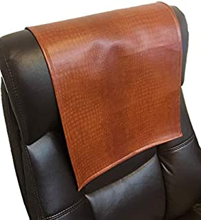 luvfabrics Vinyl Alligator Chestnut 14x30 Sofa Loveseat Chaise Theater Seat, RV Cover, Chair Caps Headrest Pad, Recliner Head Cover, Furniture Protector