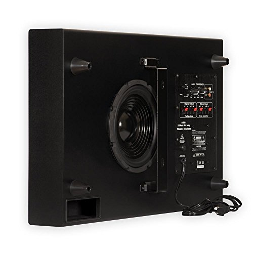 Theater Solutions SUB8S 250 Watt Surround Sound HD Home Theater Slim Powered Active Subwoofer (Black)