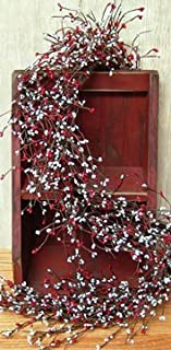 Scarlet & Gray Pip Berry Garland Country Primitive Floral Décor