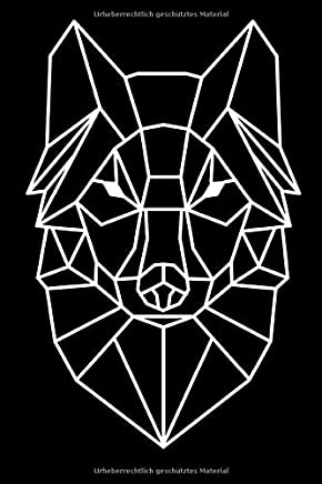 Wolf: Punkte Raster Notizbuch mit 120 Seiten (Breite: 6 Zoll Länge: 9 Zoll)