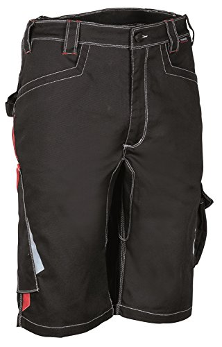 COFRA Short Corrientes, ERGOWEAR, Kurze Arbeitshose, (62, schwarz/rot)