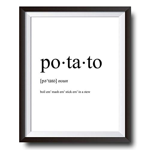 Lord Of The Rings Poster - Sam Gamgee Potato Definition Poster - Boil Em Mash Em Taters - 11x14 Unframed Print - WallWorthyPrints - Great Gift For Lord Of The Rings And Hobbit Fans