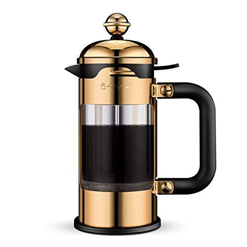 Caffettiere a pistone Pressione Francese pressione Pot mano doppio strato 1L Grande capacità di alta vetro borosilicato Liner French Coffee Pot cafetieres ( Colore : Stainless steel , Size : 1000ml )