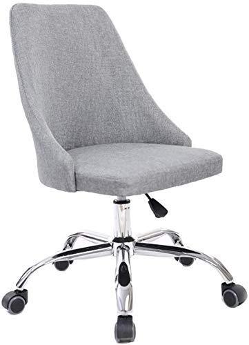 Silla ergonómica para ordenador, silla giratoria de tela de muebles, silla de oficina con respaldo alto, cojín grueso transpirable, estilo vintage (color: morado) SHIYUE (color: gris)