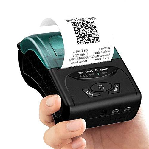 QCHEA Impresora térmica de 58 mm Mini Bluetooth, USB inalámbrico portátil de Recibos de entradas POS Impresora de impresión, Compatible iOS Android Windows, por Supermercado Tienda de Negocios