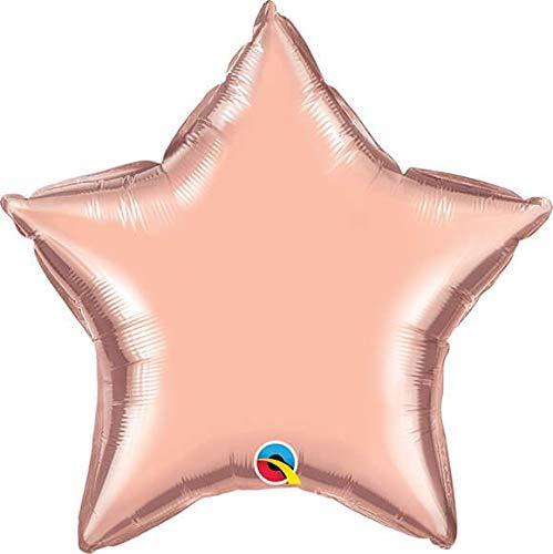 Globo Qualatex Estrella 23cm Oro Rosa