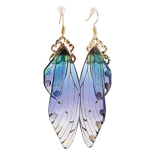 teyiwei Pendientes de Ala de Mariposa Personalizados de Moda Decoración de Oreja Animal Simulación...
