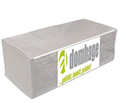 Preisvergleich Produktbild 10.000 Stück Papierhandtücher Natur 25x23 cm ZZ-Falz recycling
