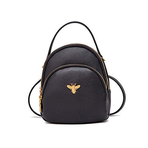 Buy and buy at Brandon Small Bag Female Fashion Backpack Crossbody Bag Wild Autumn and Winter Student Shoulder Bag TideBlackA